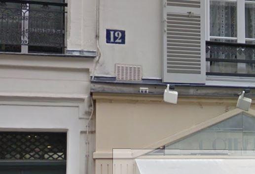 パリの地図、番地