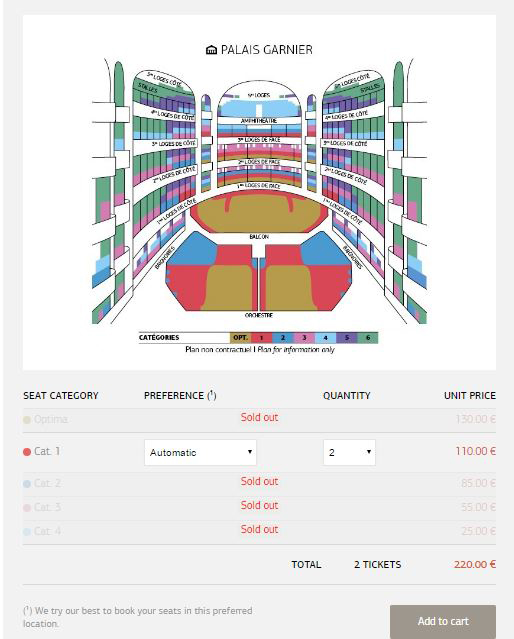 オペラ座のサイトでチケットを購入する方法