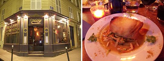 パリのレストランバー